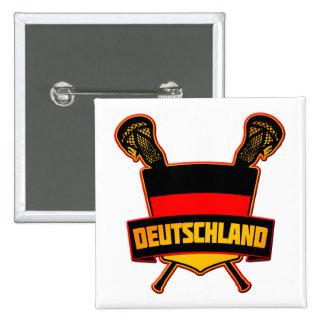 German Deutsch Lacrosse Pinback Buttons