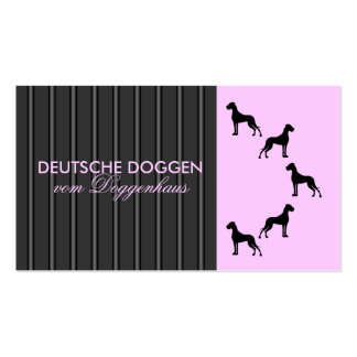 German Dogge visiting card Business Card Templates