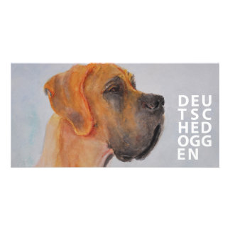 German Doggen Custom Photo Card
