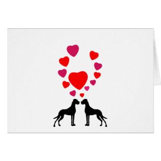 German Doggen valentins day maps Card