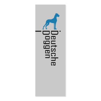 German Doggen visiting cards Pack Of Skinny Business Cards