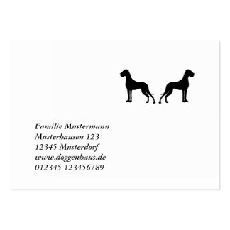 German Doggen visiting cards Pack Of Chubby Business Cards