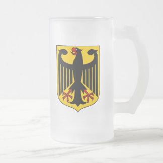German Eagle Frosted Glass Mug