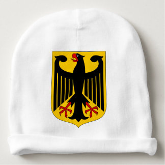 German Eagle on Yellow Shield Baby Beanie