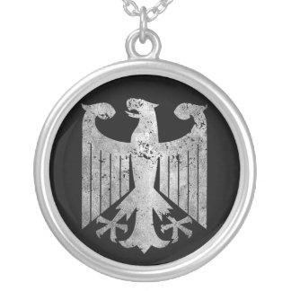 German Eagle Round Pendant Necklace
