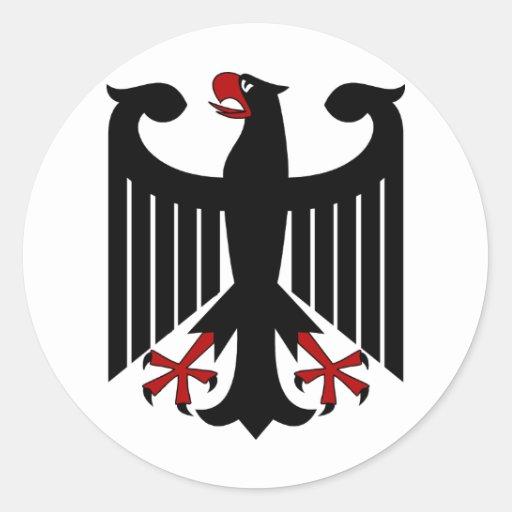 German Eagle Round Sticker