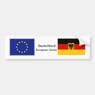 German - EU Flag Bumper Sticker