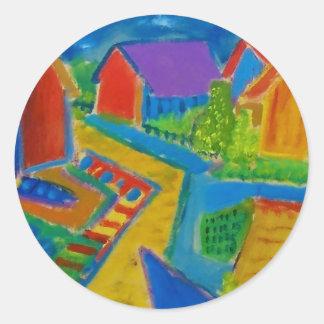 German Expressionism F21 Round Sticker