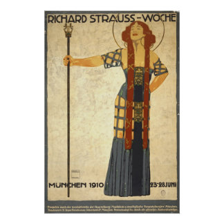 German Festival Playbill 1910 Poster