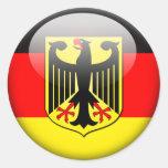 German Flag 2.0 Round Sticker