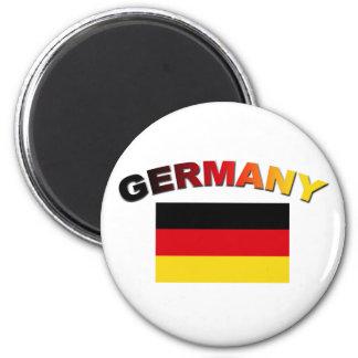 German Flag 6 Cm Round Magnet