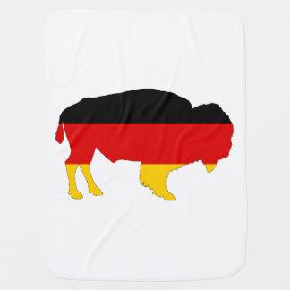 German Flag - Bison Baby Blanket