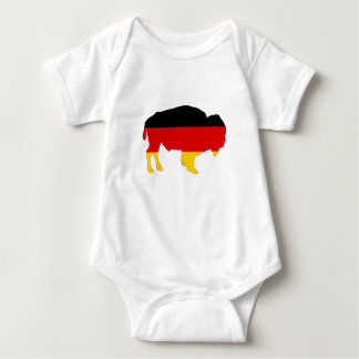 German Flag - Bison Baby Bodysuit