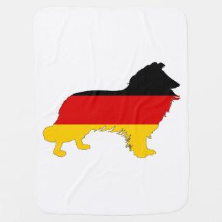 German Flag - Border Collie Baby Blanket