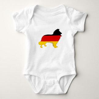German Flag - Border Collie Baby Bodysuit