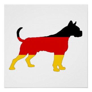 German Flag - Boxer Poster
