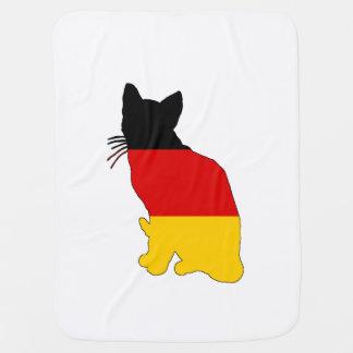 German Flag - Cat Baby Blanket