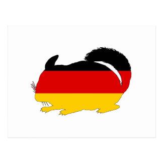 German Flag - Chinchilla Postcard