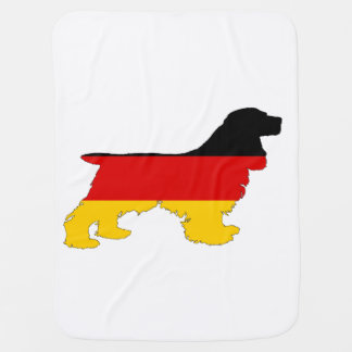 German Flag - Cocker Spaniel Baby Blanket