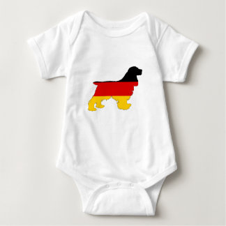 German Flag - Cocker Spaniel Baby Bodysuit