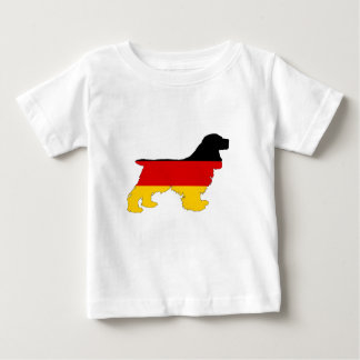 German Flag - Cocker Spaniel Baby T-Shirt