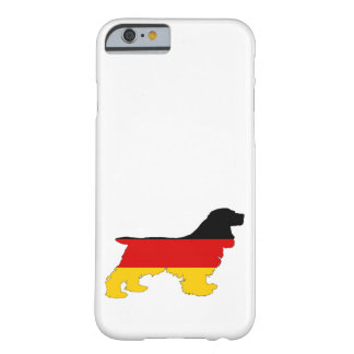German Flag - Cocker Spaniel Barely There iPhone 6 Case