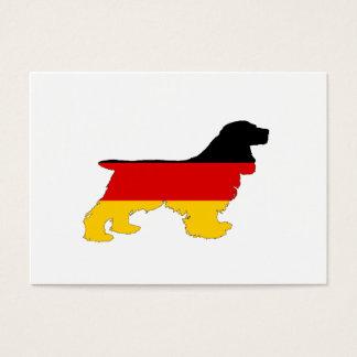 German Flag - Cocker Spaniel Business Card