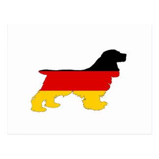 German Flag - Cocker Spaniel Postcard