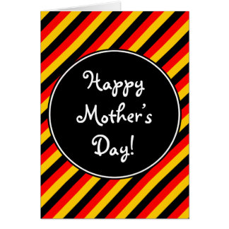 """German Flag Colors """"Happy Mother's Day"""" Card"""