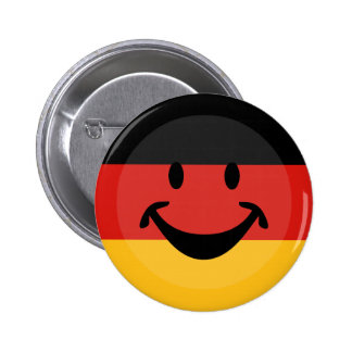 GERMAN FLAG COLORS & smiley + your ideas 6 Cm Round Badge