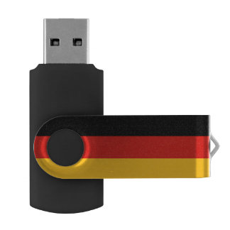 GERMAN FLAG COLORS + your ideas USB Flash Drive