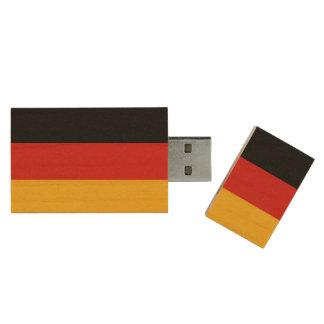 GERMAN FLAG COLORS + your ideas Wood USB Flash Drive