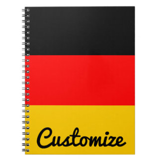 German Flag Deutsche Flagge Custom Notebook