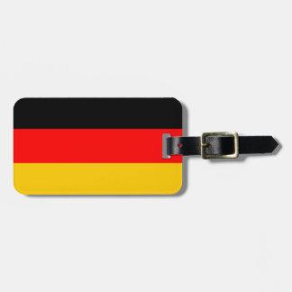 German Flag Deutsche Flagge Luggage Tag