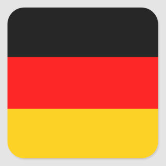 German Flag Deutsche Flagge Square Sticker