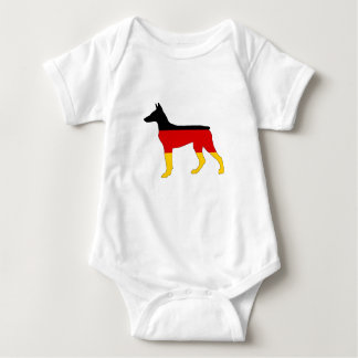 German Flag - Dobermann Pinscher Baby Bodysuit