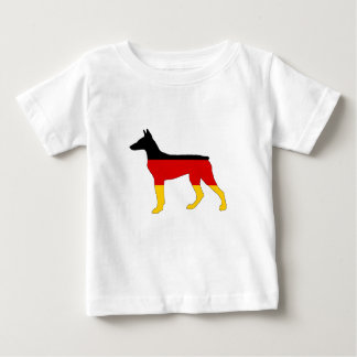 German Flag - Dobermann Pinscher Baby T-Shirt