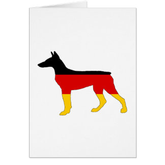 German Flag - Dobermann Pinscher Card