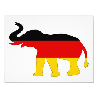 German Flag - Elephant Photograph