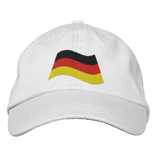 German Flag Embroidered Hat