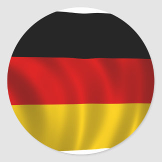 German Flag Flag German Symbol Europe European Classic Round Sticker