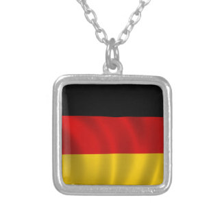 German Flag Flag German Symbol Europe European Silver Plated Necklace