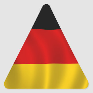 German Flag Flag German Symbol Europe European Triangle Sticker