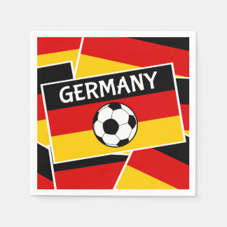 German Flag Football Disposable Serviette