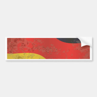 German Flag Grunge Bumper Sticker