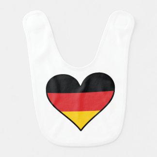 German Flag Heart Bib