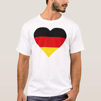 German Flag Heart T-Shirt