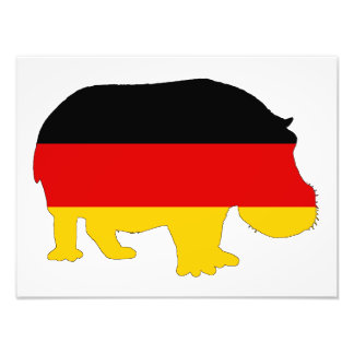 German Flag - Hippo Photo Art