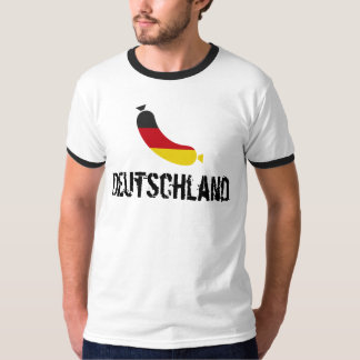 German flag in a sausage, the deutsche wurst T-Shirt
