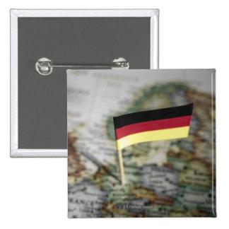 German flag in map 15 cm square badge